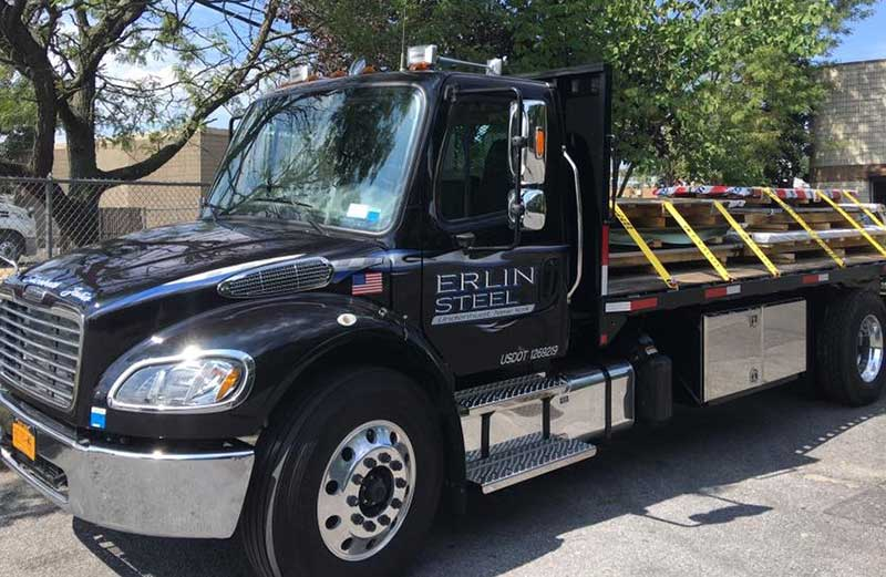 Erlin Steel New York Steel Supply Truck